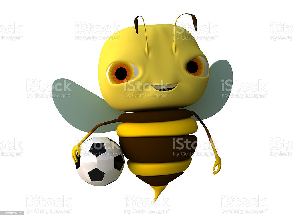 bee with a ball stock photo