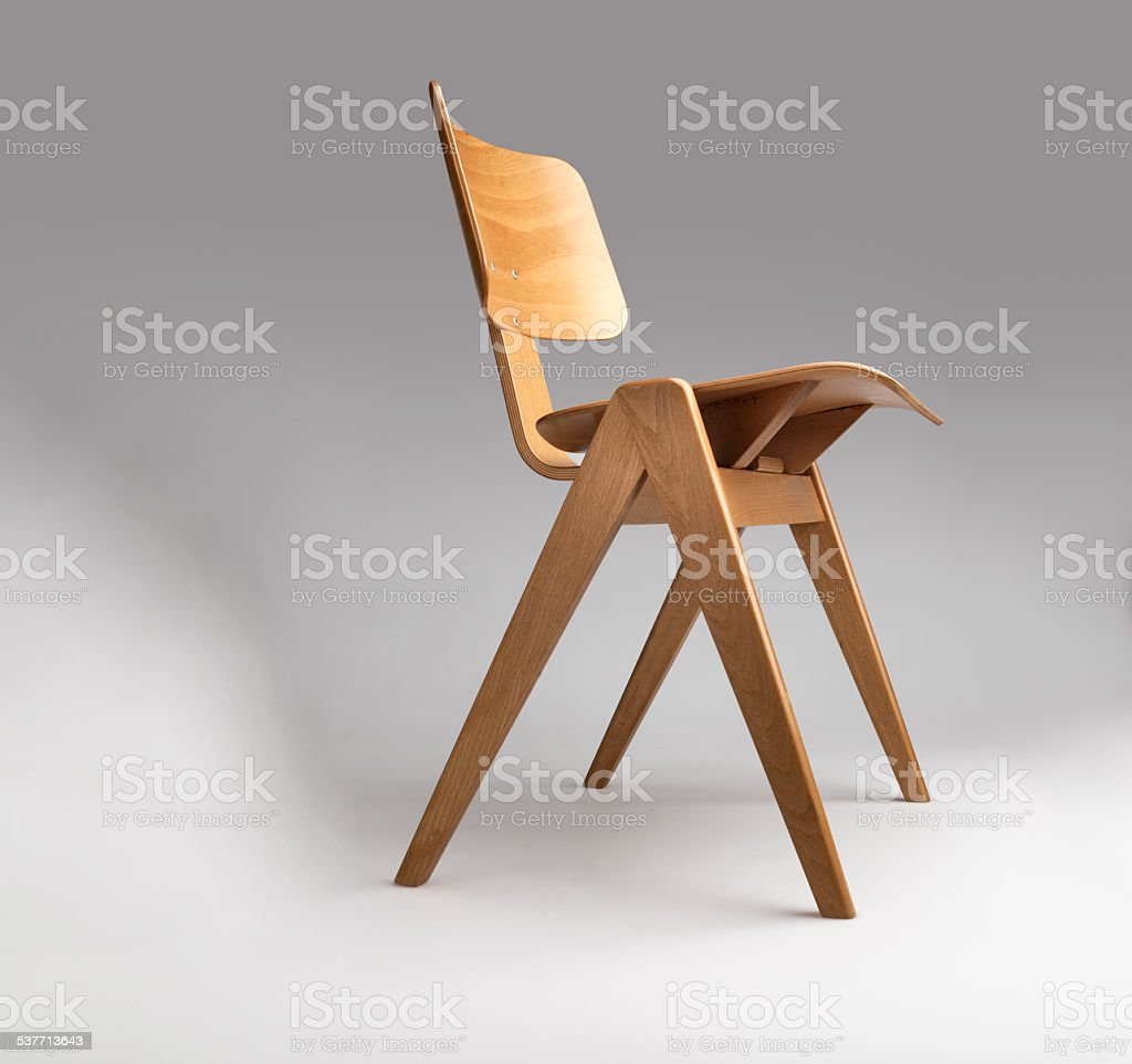 Beech Plywood Chair stock photo
