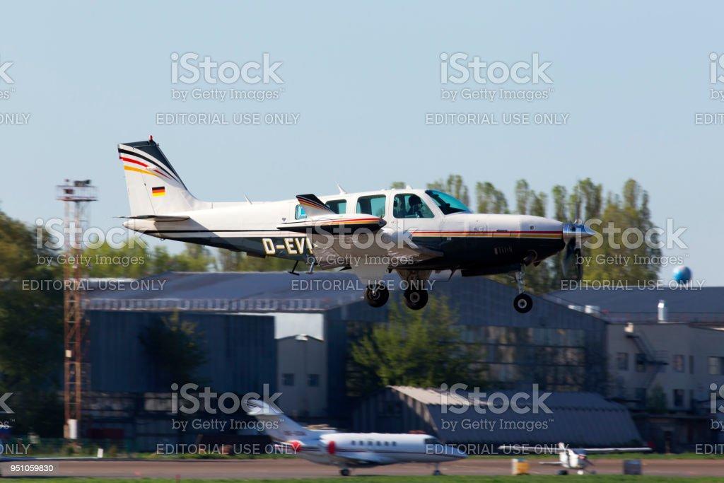 Beechcraft A36 Bonanza Business Aircraft Landing On The