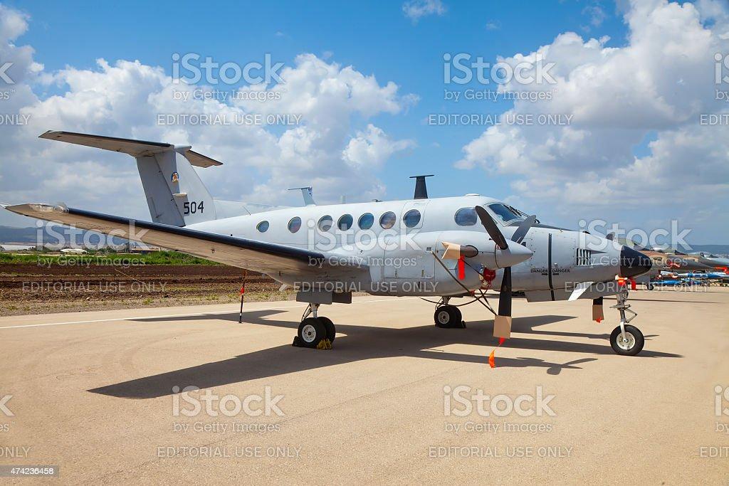 Beechcraft King Air aircraft at exhibition stock photo