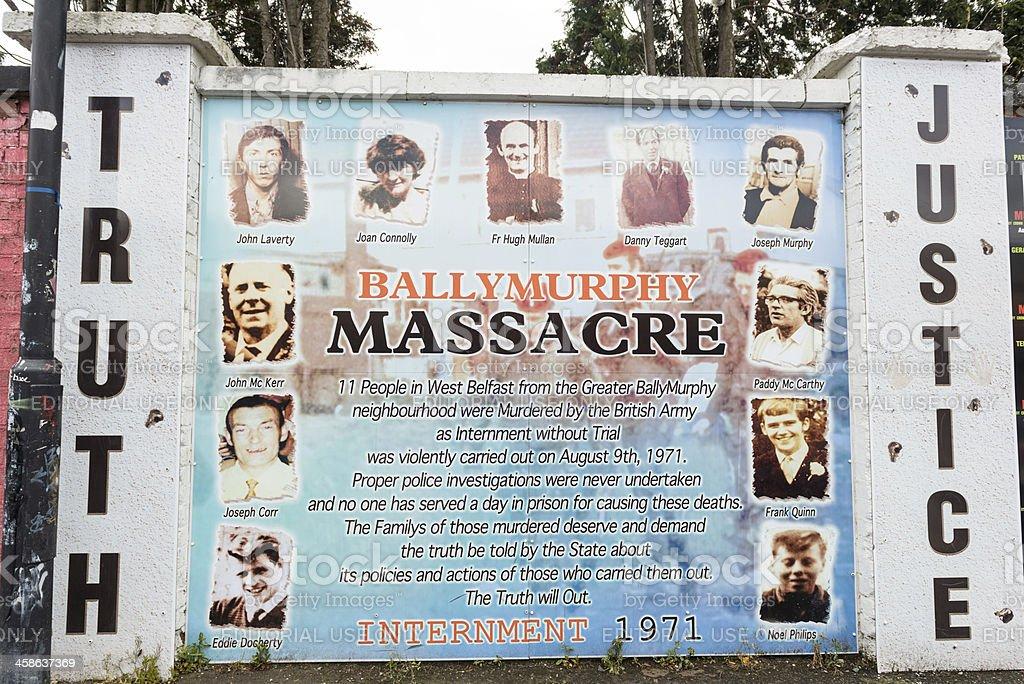 Beechmount Memorial stock photo