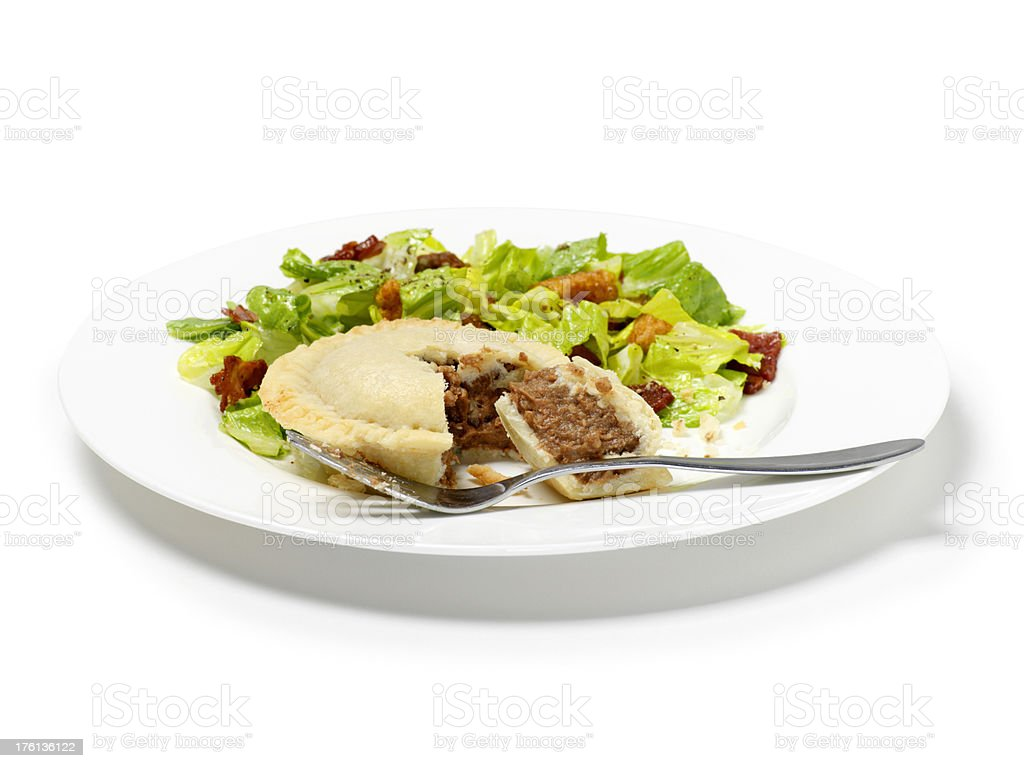 Beef & Onion Pie royalty-free stock photo