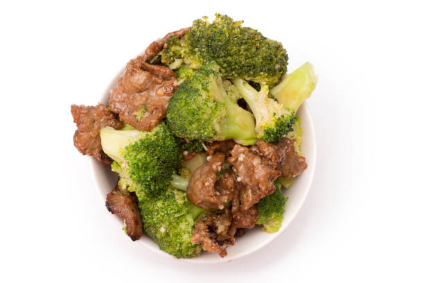 Beef and Broccoli Chinese Food stock photo
