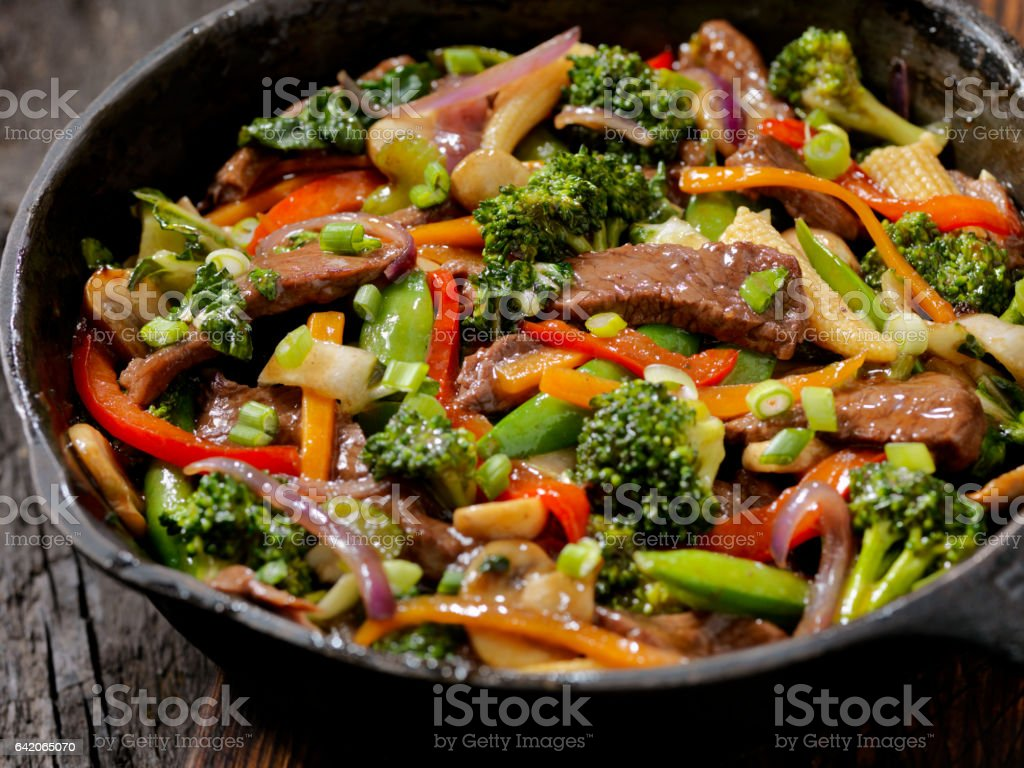 Beef and Broccoli Stir Fry stock photo