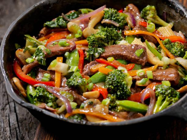 Manzo e Broccoli Stir Fry - foto stock