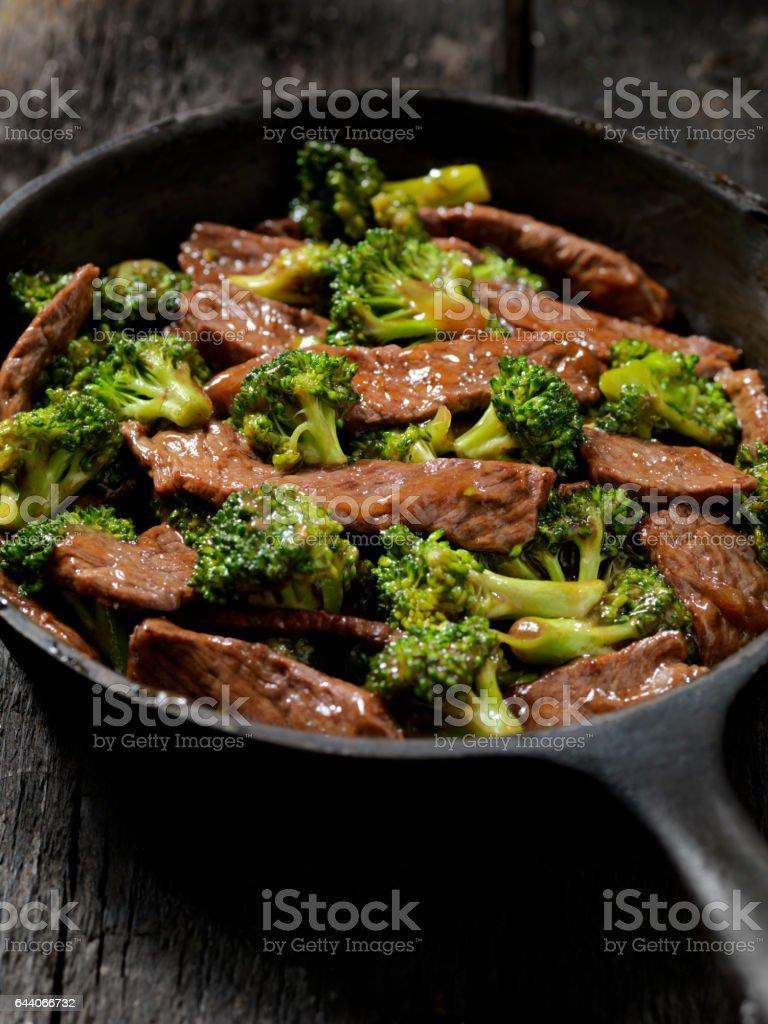 Beef and Broccoli Stir Fry stock photo