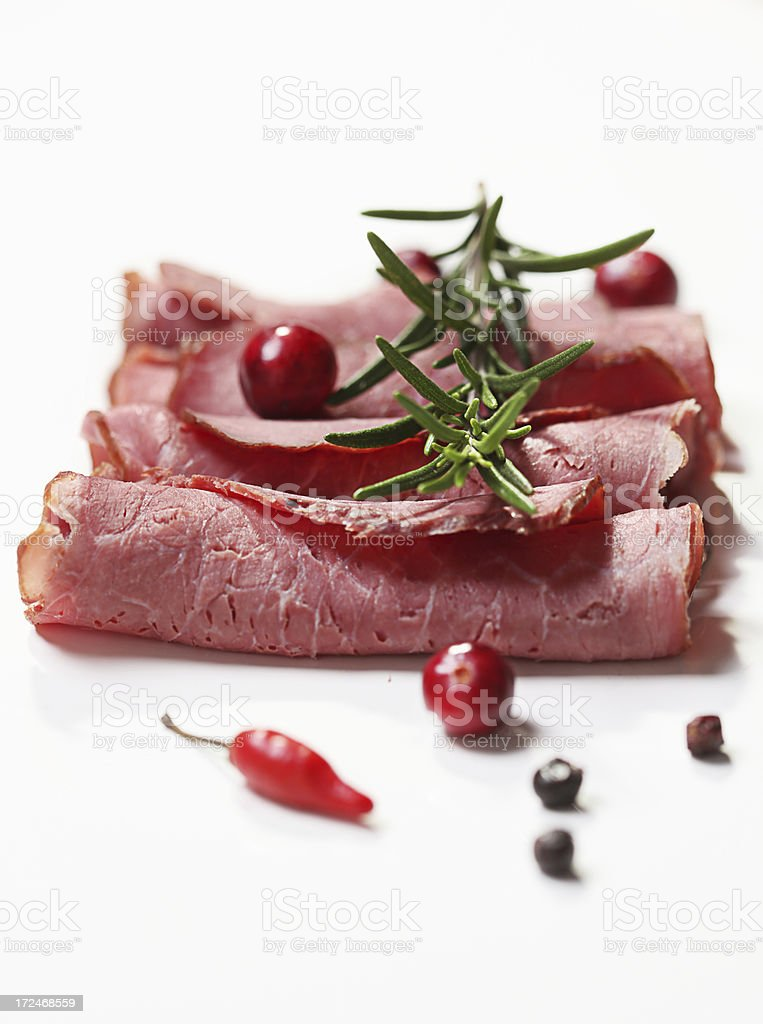 Beef and herbs royalty-free stock photo