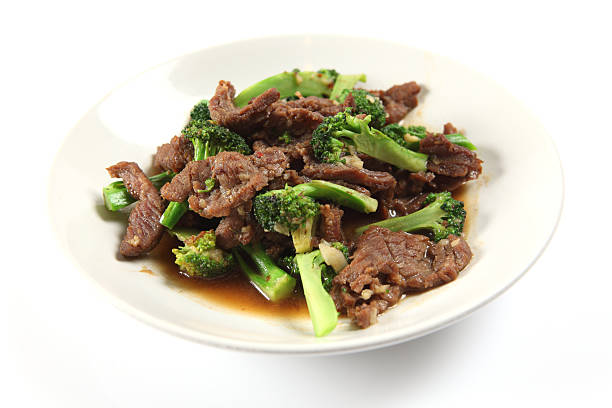 Beef and oyster sauce stock photo