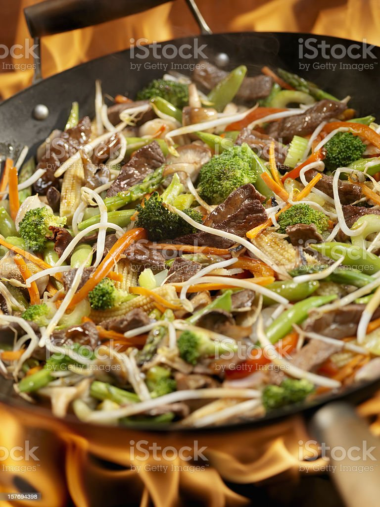 Beef and Vegetable Stir Fry royalty-free stock photo