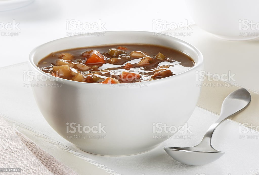 Beef and vegetables soup royalty-free stock photo
