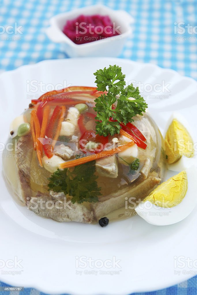 Beef  aspic royalty-free stock photo