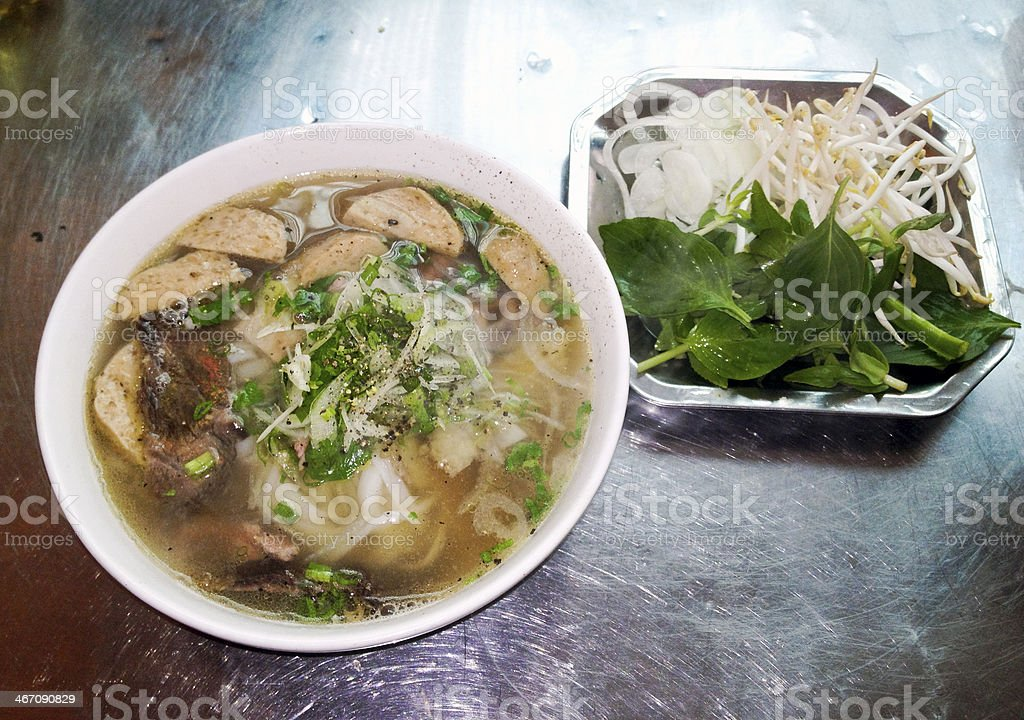 beef ball with pho royalty-free stock photo
