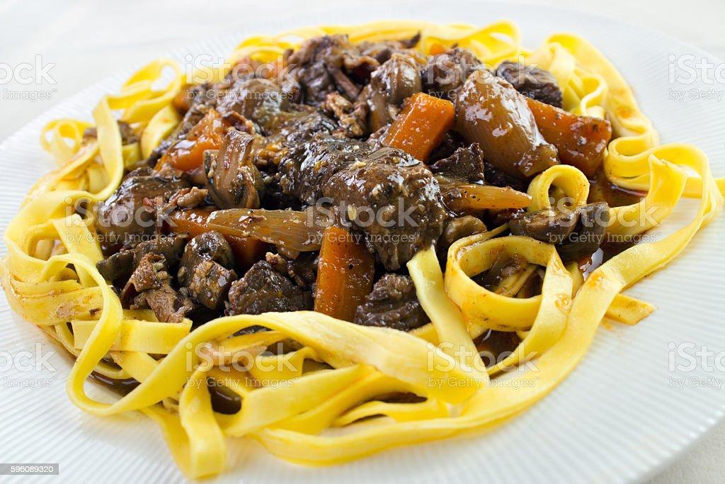Beef bourguignon casserole royalty-free stock photo