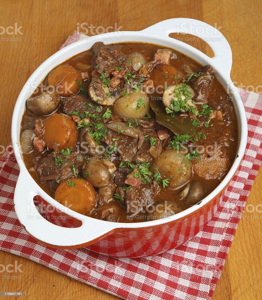 Beef Bourguignon, Classic French Stew stock photo