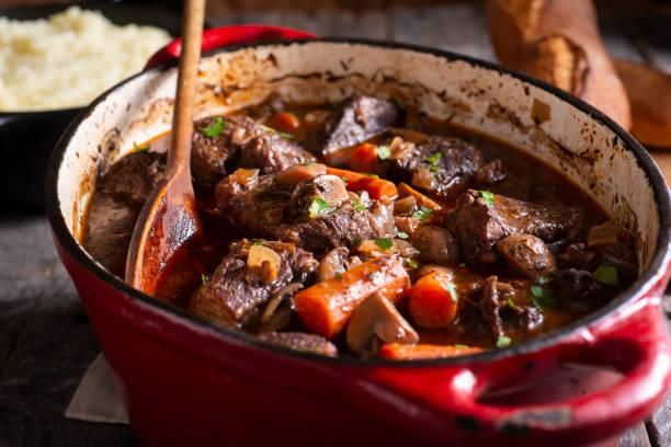 Beef Bourguignon stock photo