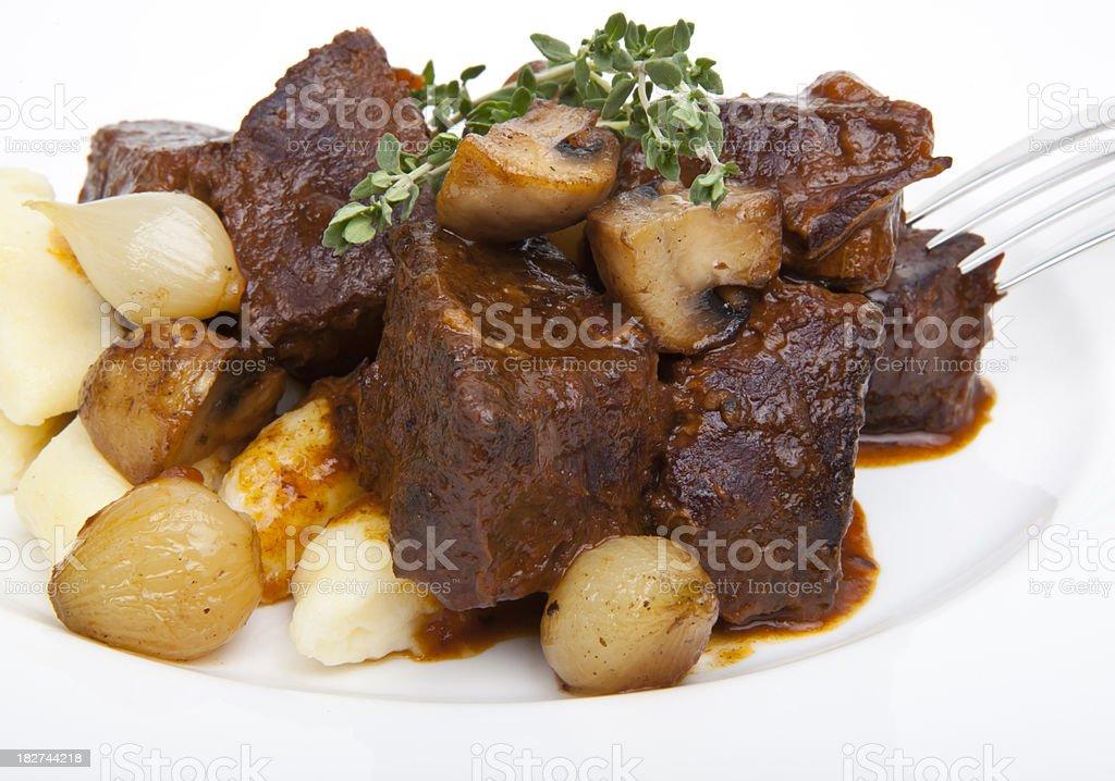 Beef Bourguignon royalty-free stock photo