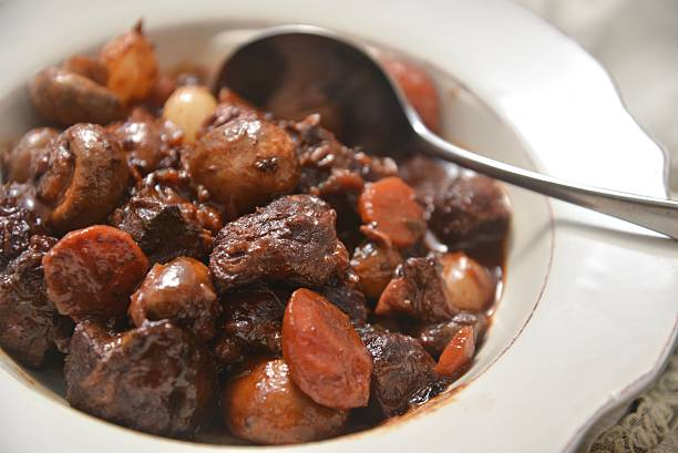 BŒUF BOURGUIGNON Beef Bourguignon BŒUF BOURGUIGNON Beef Bourguignon beef bourguignon stock pictures, royalty-free photos & images