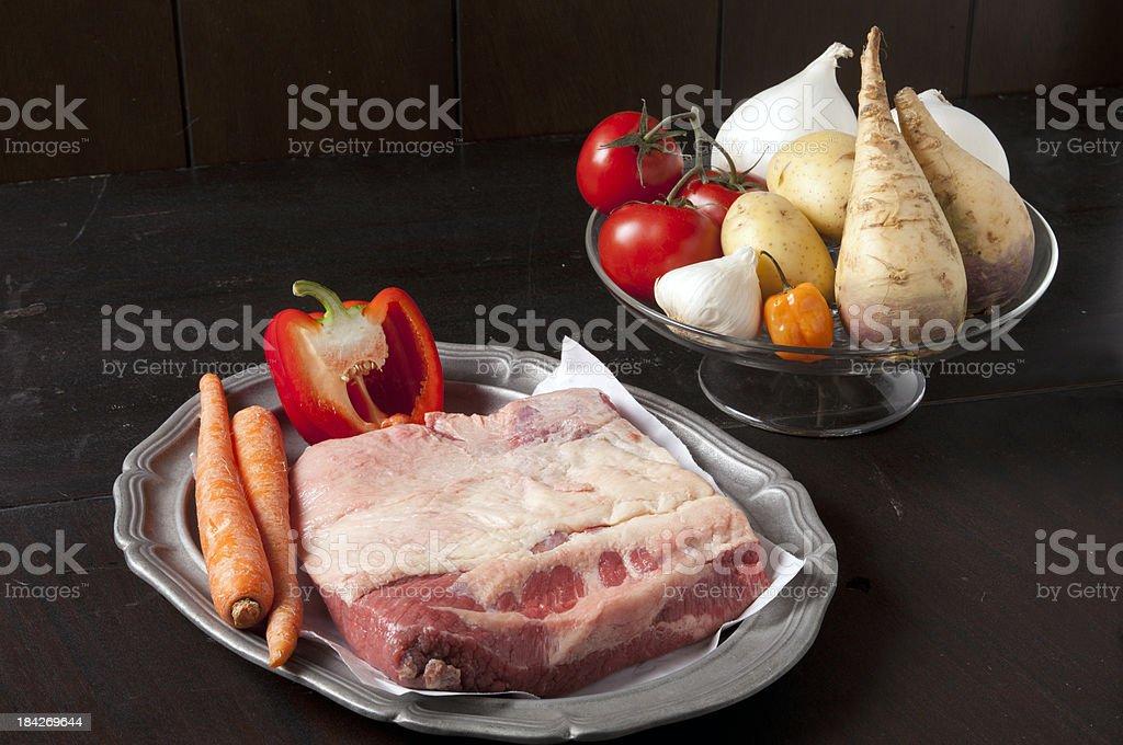 beef brisket ingredients royalty-free stock photo
