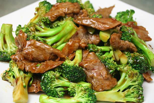 Beef & Broccoli stock photo