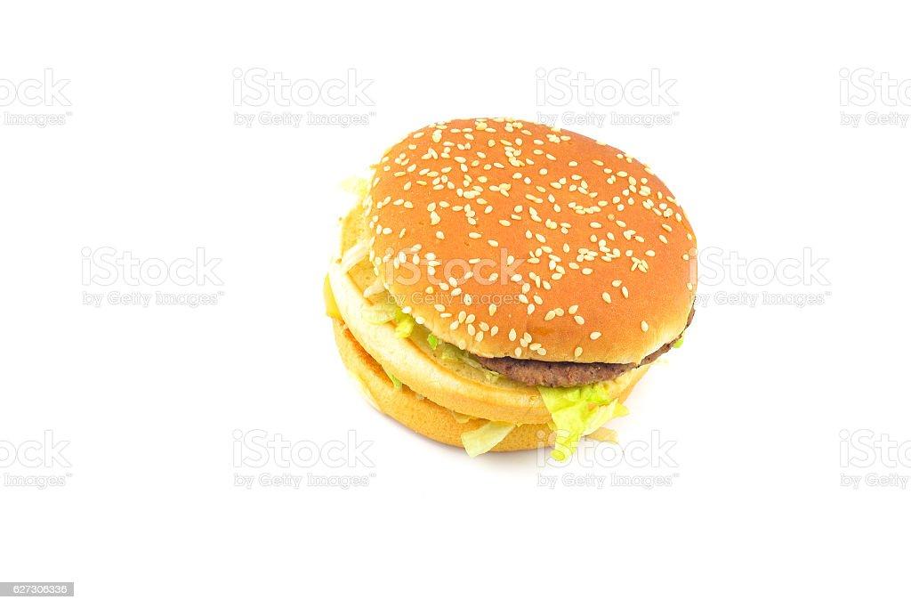 Beef Burger isolated on white background stock photo