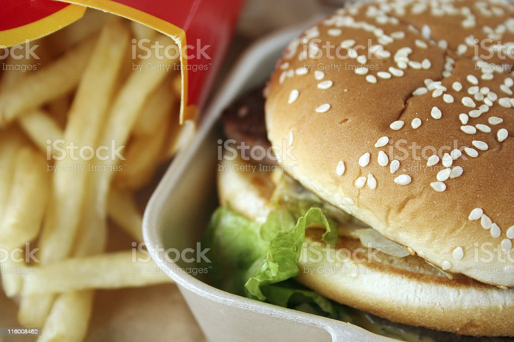 Beef burger sandwich royalty-free stock photo