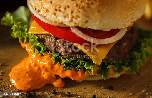 Usa, Burger, Hamburger, Meat, Cheddar Cheese, Steak,