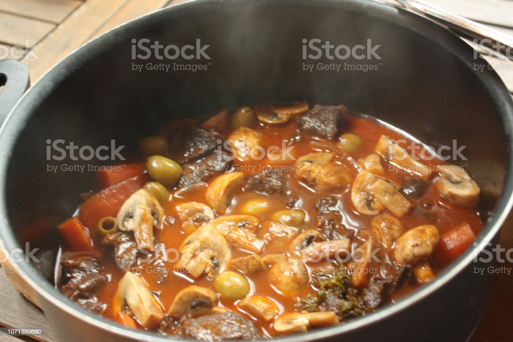 Beef Burgundy Beef Stew Simmered With Burgundy Red Wine Sauce Stock Images Page Everypixel
