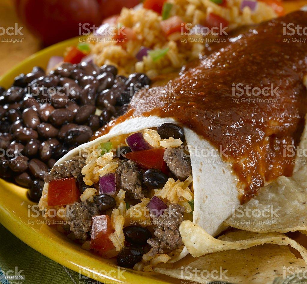 Beef Burrito royalty-free stock photo