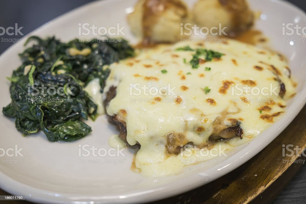 Beef cheese steak royalty-free stock photo
