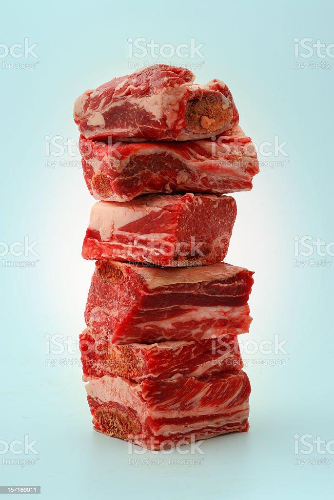 beef chuck short ribs royalty-free stock photo