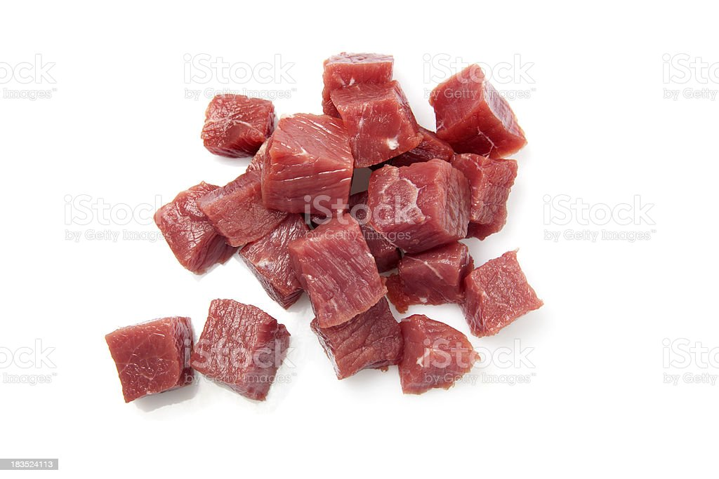 Beef cubes stock photo