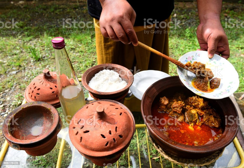 Beef Curry (Sie Reboh Aceh) stock photo