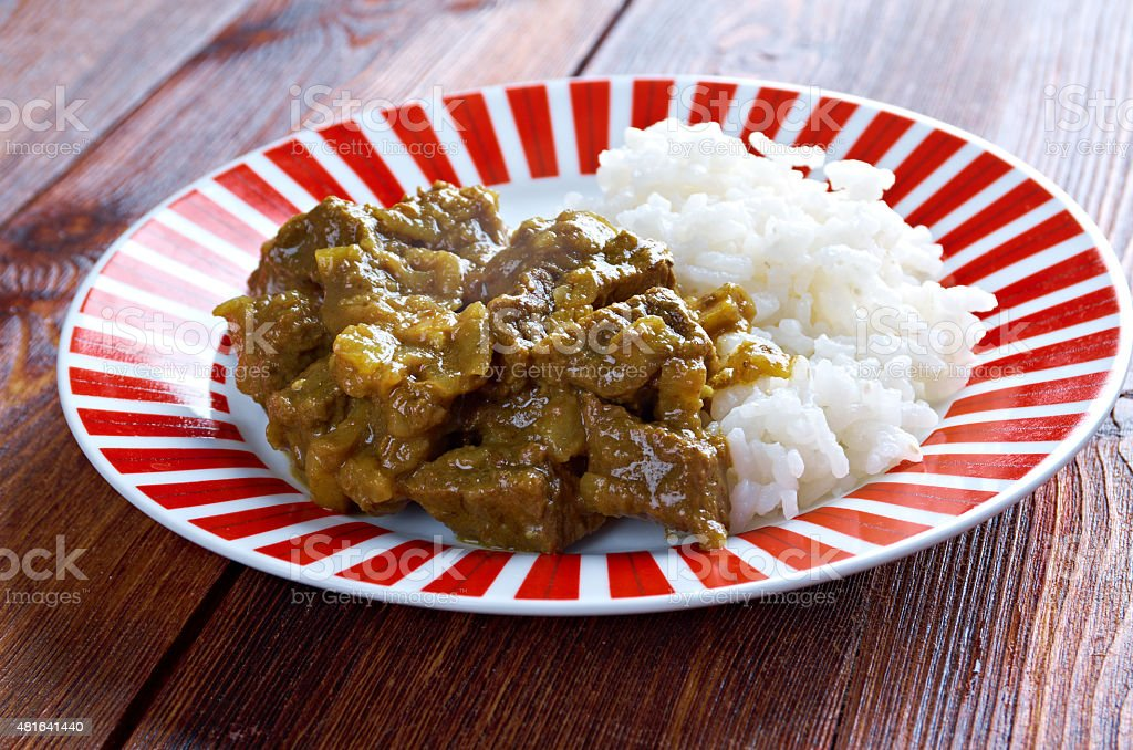 Beef Curry with Rice stock photo