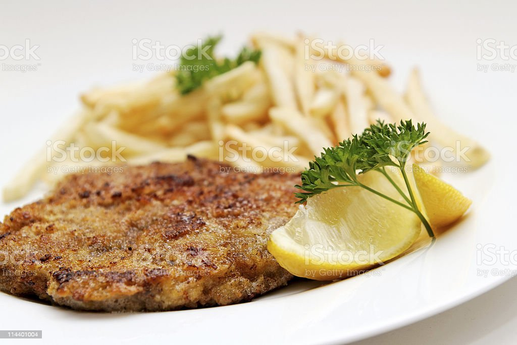 Beef cutlet stock photo
