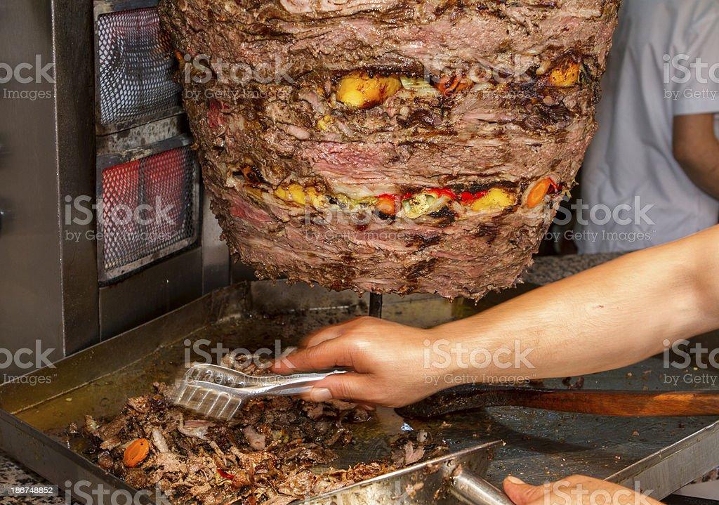 Beef Doner Kebab royalty-free stock photo