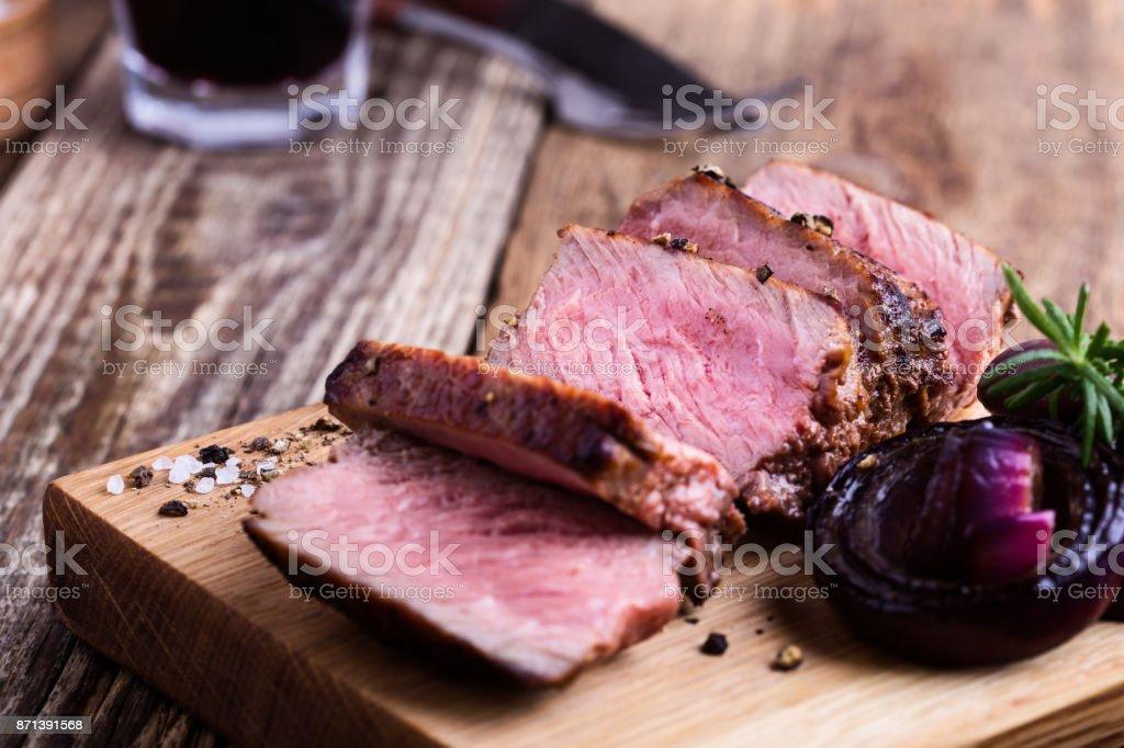 Beef filet mignon stock photo