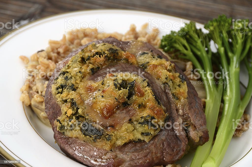 Beef Florentine Pinwheel royalty-free stock photo