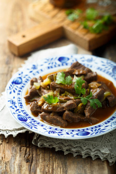 Beef goulash stock photo