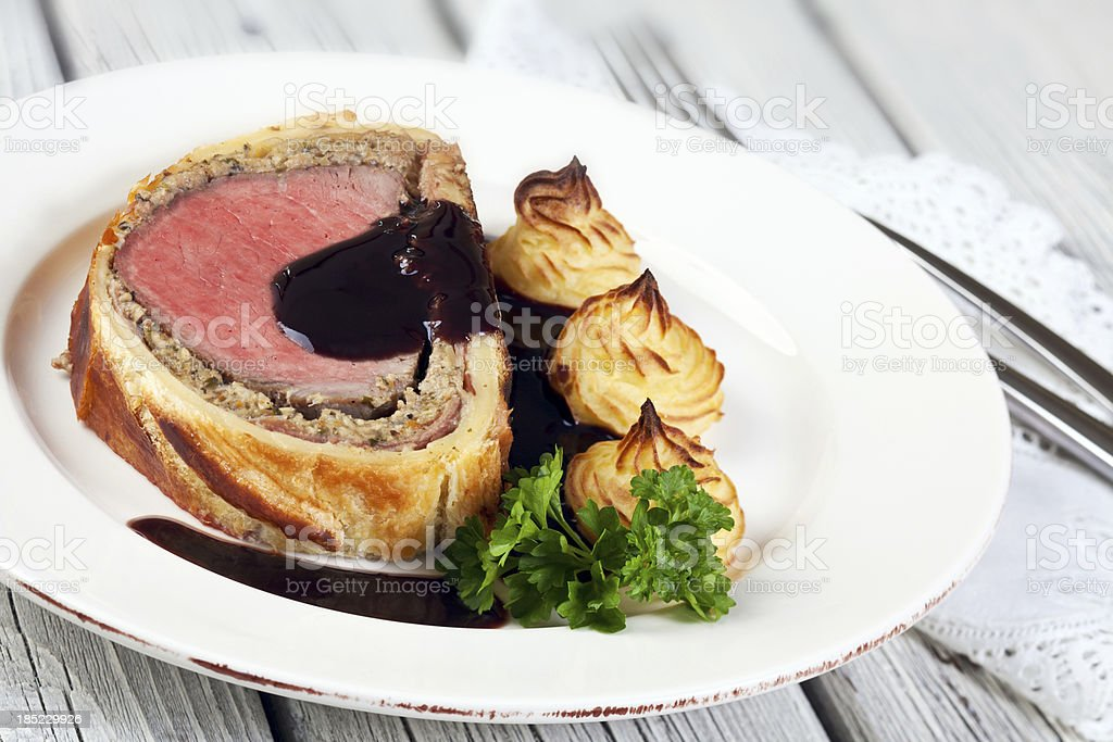 Beef in Puff Pastry stock photo