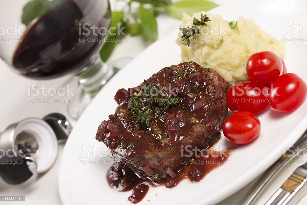 Beef in red wine. royalty-free stock photo