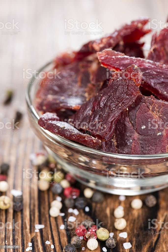 Beef Jerky stock photo