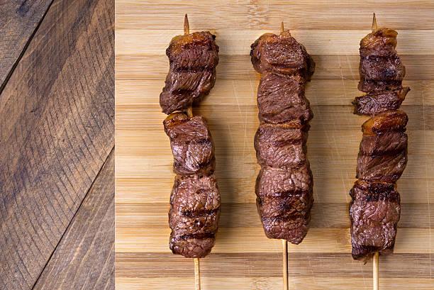 fleisch-kebab - kebab marinade stock-fotos und bilder
