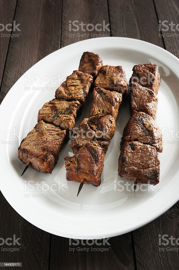 Beef kebabs royalty-free stock photo