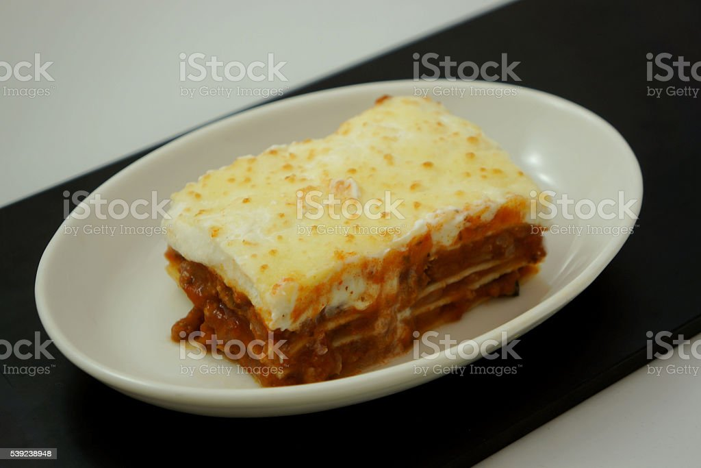 Beef Lasagne royalty-free stock photo
