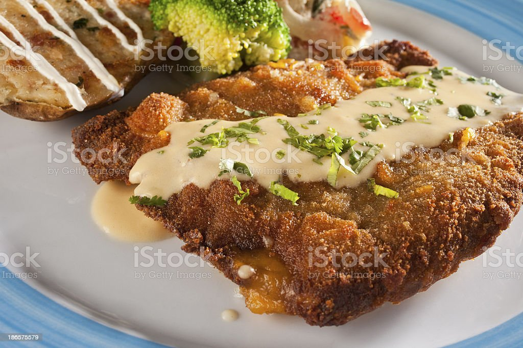 Beef Milanese stock photo