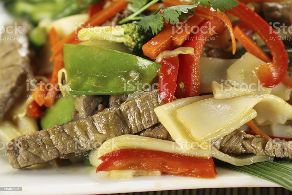 Beef Noodle Stirfry royalty-free stock photo