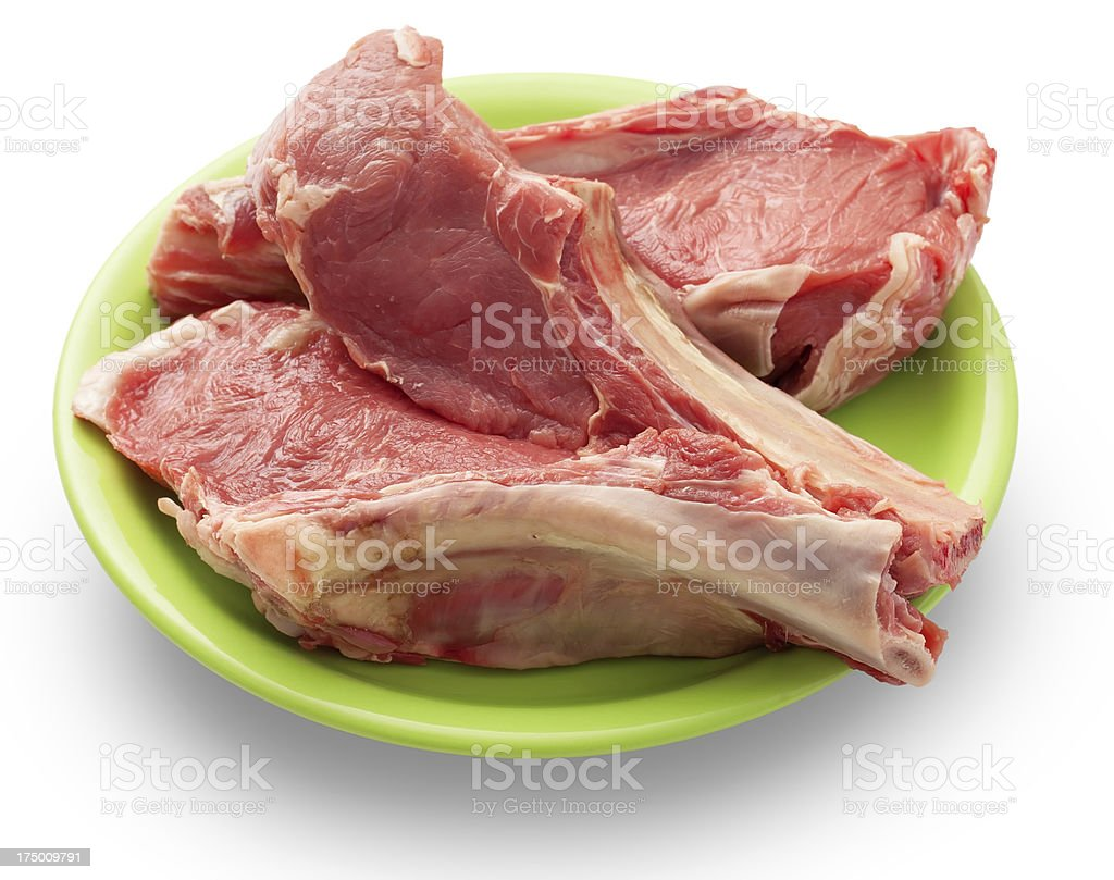beef on a green dish royalty-free stock photo