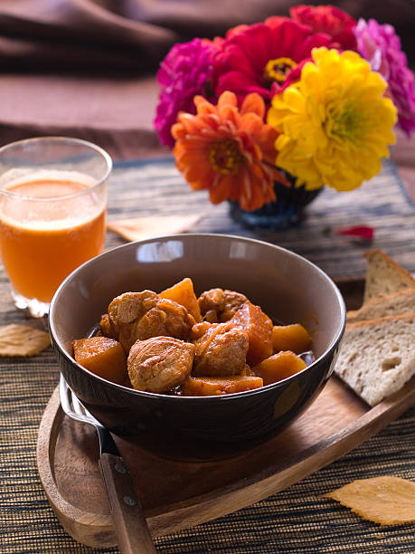 Beef or pork stew stock photo
