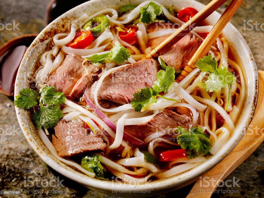Beef Pho stock photo
