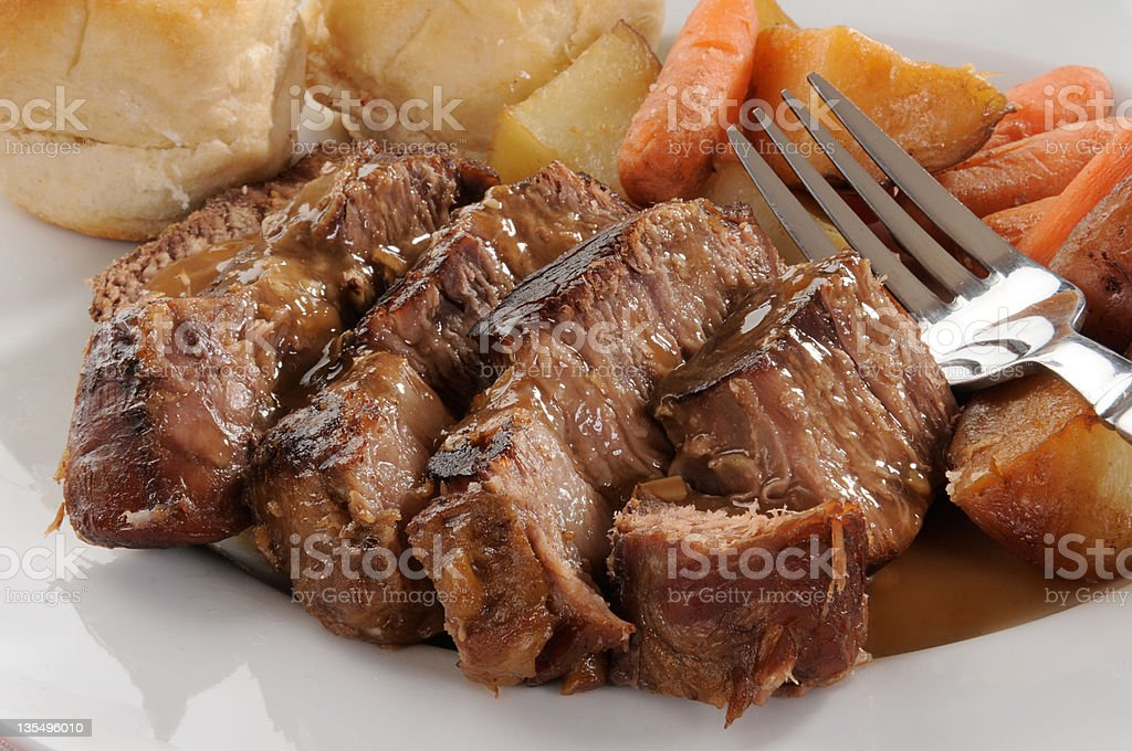Beef pot roast stock photo